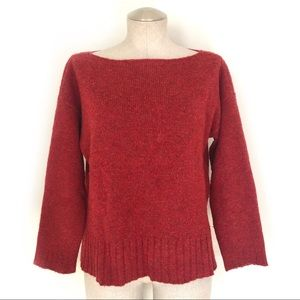 Eileen Fisher Wool Red Orange Sweater Size S